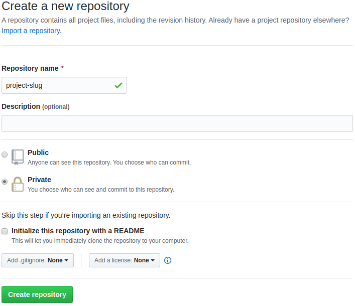 Create a GitHub repository for our Django project